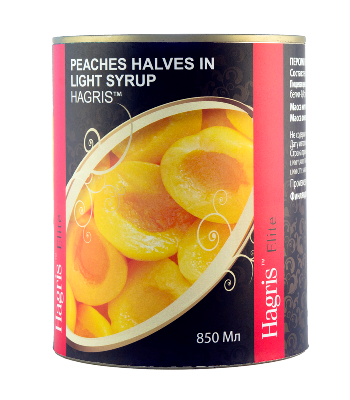 Peaches halves in syrup
