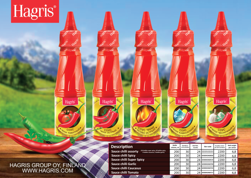 NEW DESIGN OF SAUCES HAGRIS.